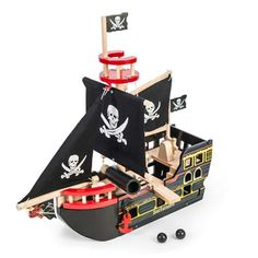 Buy Barbarossa Pirate Ship from Mulberry Bush, an online toyshop for traditional and wooden children's toys, gifts and games