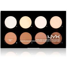 Nyx Highlight & Contour Pro Palette ($25) ❤ liked on Polyvore featuring beauty products, makeup, face makeup, no color, nyx, nyx makeup, palette makeup, nyx cosmetics and highlight makeup