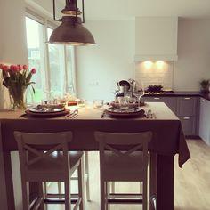 Ready for dinner. Bodbyn kitchen Ikea grijs