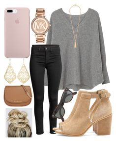 """I got one thing stuck in my mind"" by jadenriley21 on Polyvore featuring MANGO, Sole Society, Kendra Scott, MICHAEL Michael Kors and J.Crew"