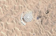 A Lotus in the Desert: China's Xiangshawan Resort - In Focus - The Atlantic Desert Lotus Hotel, Mongolia Gobi Desert, Cultural Crafts, Water Energy, White Canopy, Chinese Architecture, The Dunes, Beautiful Hotels, Travel And Leisure, Mongolia
