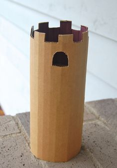 Rapunzel tower made of cardboard. Kids can paint and/or decorate it. X