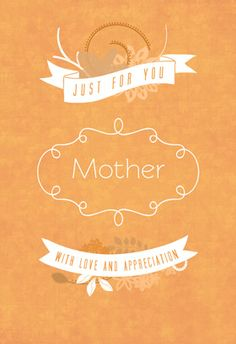 """Just for you"" printable card. Customize, add text and photos. print for free! #Mother's day #Card"