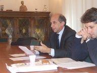 Maurizio Pozella intento a relazionare sulle imprese a lui assegnate
