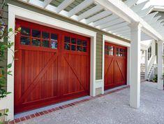 Important Design Concepts for Traditional Garage Doors Carriage Style Garage Doors, Custom Garage Doors, Garage Door Panels, Wood Garage Doors, Carriage Doors, Garage Door Design, Custom Garages, Carriage House, Building A Door