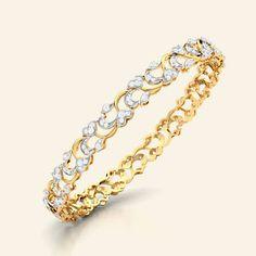 Chelsea gold diamond bangle