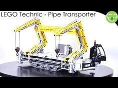 LEGO Technic MOC - Dual Crane Pipe Transporter Prototype - YouTube