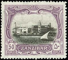 Zanzibar Issue Issued Stamps black and steel-blue, centred to right, fine mint. Stone Town, Postage Stamp Art, East Africa, Stamp Collecting, My Stamp, Tanzania, Badge, Vintage World Maps, Banknote