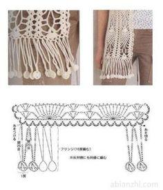50 New Ideas Crochet Scarf Fringe Pattern Knitted Scarves Bonnet Crochet, Gilet Crochet, Crochet Fringe, Crochet Amigurumi, Crochet Motifs, Crochet Diagram, Crochet Stitches Patterns, Crochet Chart, Crochet Trim