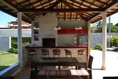 Projeto Churrasqueira - Bancada Vermelha - Barros Niquet Arquitetura