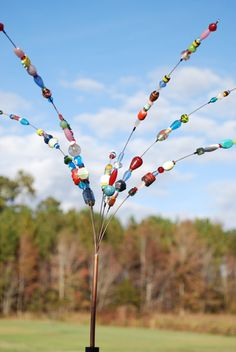 Beaded Blossoms -- Garden Bead Art -  Wire Suncatcher Sculptures - Beaded Flowers