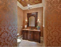 Love this powder room!