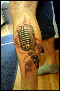 Microphone tattoo should I add this concept to my existing mic?