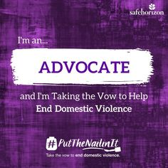 It's Domestic Violence Awareness Month and I'm taking the vow to end this painful form of abuse. Most importantly, to let victims know I believe them and that Safe Horizon can help without judgement. Join me in taking the vow to help end domestic violence: https://hubs.ly/H08Nkf70 Learn more about #PutTheNailinIt: https://hubs.ly/H08NjHk0
