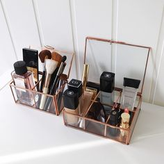 Trendy makeup organization diy bathroom make up beauty products Ideas Diy Makeup Organizer, Make Up Organizer, Make Up Storage, Vanity Organization, Diy Storage, Organization Hacks, Bedroom Storage, Makeup Storage In Drawers, Makeup Drawer