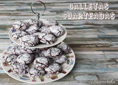 Hoy os traigo las mejores galletas que he hecho nunca, las GALLETAS CUARTEADAS DE CHOCOLATE, todo un descubrimiento que me ha fascinado, id...