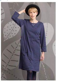 d9a10f1c7a90 Striped dress in eco-cotton – Dresses & Tunics – Gudrun Sjödén - Fall 2018