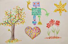 painting with q-tips (Malování s vatovými tyčinkami, malujeme s dětmi) Q Tip Painting, Maya, Art For Kids, Projects To Try, December, Lily, Illustration, Occupational Therapy, Children