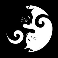 Tote bag 'Ying Yang Cats - Noir et blanc' par MellowGroove Ying Yang, Art Africain, Animes Wallpapers, Cat Drawing, Cat Tattoo, Cat Art, Painted Rocks, Illusions, Cat Lovers