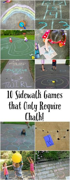 10 Sidewalk Games to Try This Summer! | Design Improvised