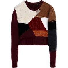 Calvin Klein Collection Long Sleeve Jumper (79.535 RUB) ❤ liked on Polyvore featuring tops, sweaters, maroon, ribbed sweater, long sleeve jumper, maroon sweater, wool sweater and long sleeve sweaters
