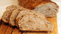 Fiken- og valnøttbrød No Bake Cake, Granola, Banana Bread, Recipies, Scones, Food And Drink, Vegetarian, Snacks, Baking