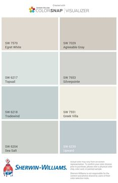Room Paint Colors, Interior Paint Colors, Paint Colors For Home, Wall Colors, Beachy Paint Colors, House Color Schemes, House Colors, Sea Salt Sherwin Williams, Ideas