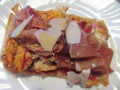 FORNELLI IN FIAMME: PIZZA ALTA OF SPELT WITH PARMA RAW HAM, GRANA PADA...