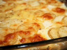 Decadent Potatoes. Gruyere, cream and Parmesan? Oh yeah.