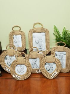 Shop Pastoral Style Braided Rope Made Picture Frame online at Jollychic,FREE SHIPPING! Diy Crafts For Home Decor, Diy Crafts For Gifts, Creative Crafts, Picture Frame Crafts, Picture Frames, Burlap Crafts, Paper Crafts, Diy Art, Free Shipping