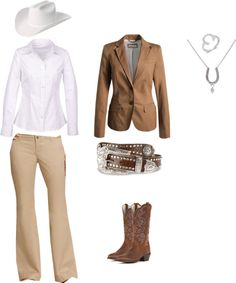 """I personally love that simple blazers/jackets are """"in"""" for SMS and halter again. So classy!  """"Showmanship Style"""" by kaitlyn4002672 on Polyvore"""