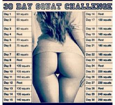 Fitness, Working out, Healthy Living, Motivation!  BIG BOOTY PROBS. SQUAT CHALLENGE.