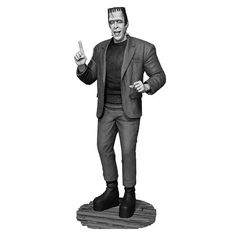 Munsters Black-and-White Herman Munster Maquette Statue - Tweeterhead - Munsters - Statues at Entertainment Earth
