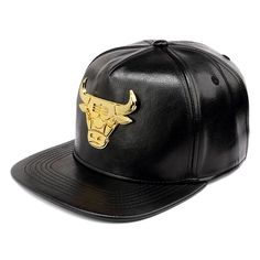 PU Leather Baseball Caps American Basketball Bulls Snapback cap