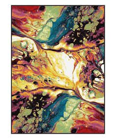 Another great find on #zulily! Lime & Yellow Soleil Abstract Rug by Tayse Rugs #zulilyfinds