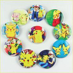 Lot 10pcs Pokemon Pikachu Pins Badges Buttons Boy Girl Birthday party favor Gift | eBay