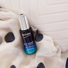 Say goodbye to the signs of aging with Biotherm's Blue Therapy Accerlated Serum. Available in-store and at beautyBOUTIQUE.ca #bebold #Biotherm