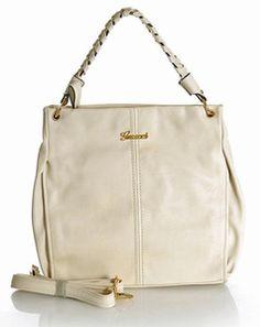 Stylowy worek - torebka white / beige GUSSACI Rebecca Minkoff, Blog, Shoulder Bag, Shoulder Bags, Blogging