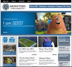 film 2.0: Pixar launches faux website for students at MONSTERS UNIVERSITY, forthcoming sequel to MONSTERS INC
