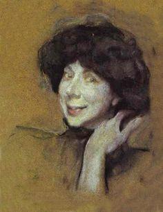 Valentin Serov (1865-1911) - Portrait of Anna Benois
