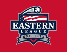 Another MiLB league logo rebrand – this time it's the Eastern League. I picked a classic serif typeface and the Stars and Stripes motif because the histor...