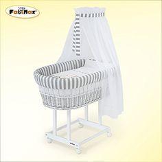 FabiMax culla in vimini, laccato bianco, materasso CLASSIC e dotazione completa Betty grigio FabiMax http://www.amazon.it/dp/B0168VD84Y/ref=cm_sw_r_pi_dp_L4Hfxb1ZAT8ST