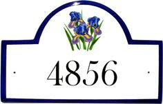 Classy Plaques Store - Iris Flowers Address Signs and House Plaques, $179.00 (http://www.classyplaques.com/iris-flowers-address-signs-and-house-plaques/)