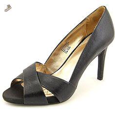 Alfani Raceine Women OpenToe Suede Slingback Heel Black Size 9.5