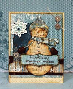 HOLIDAY GREETINGS WISHES***Bo Bunny Press - Snowfall Collection