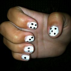 Lexi's dice nails...after the pool got to them. Lol