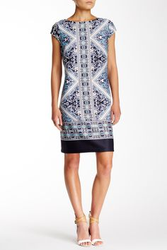 Marina - Cap Sleeve Shift Dress at Nordstrom Rack. Free Shipping on orders over $100.