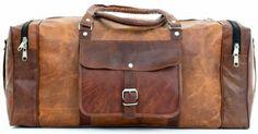 Gusti Leder nature Genuine Leather Travel Bag Weekender Holdall Vintage Luggage Brown R27b - http://www.fivedollarmarket.com/gusti-leder-nature-genuine-leather-travel-bag-weekender-holdall-vintage-luggage-brown-r27b/