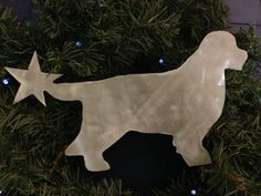 Newfoundland Dog Tree Topper Holiday by ScreenDoorGrilles on Etsy, $24.00