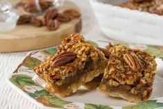 An alternative to serving traditional pecan pie at Thanksgiving. These have all the taste of pecan pie, but are easier to make and serve. Ooey-gooey good!